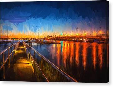 Bridge Of Lions St Augustine Florida Painted  Canvas Print by Rich Franco