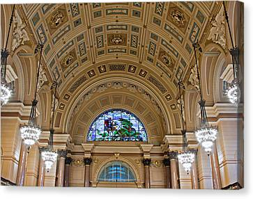 Interior Of St Georges Hall Liverpool Uk Canvas Print by Ken Biggs
