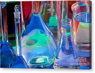 Laboratory Glassware Canvas Print by Charlotte Raymond