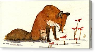 Red Fox Canvas Print by Juan  Bosco