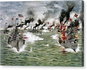 Spanish-american War, 1898 Canvas Print by Granger