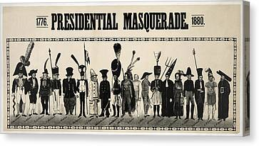 1776  Presidential Masquerade  1880 Canvas Print by Daniel Hagerman