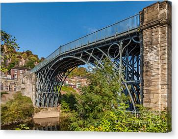 1779 Iron Bridge England Canvas Print by Adrian Evans
