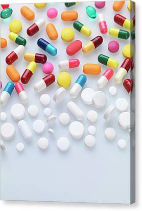 Pills Canvas Print by Tek Image