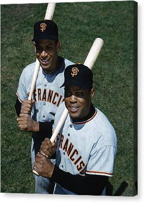 Willie Mays Canvas Print by Retro Images Archive