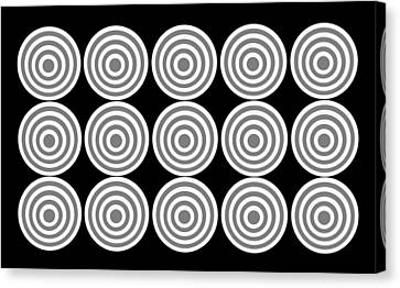 180 Circles Grayscale Canvas Print by Asbjorn Lonvig