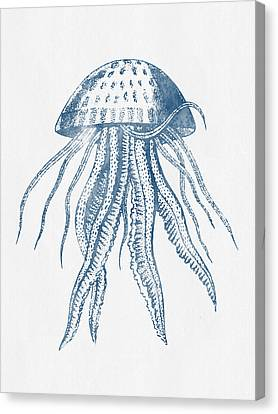 1844 Octopus Ink Drawing Canvas Print by Aged Pixel