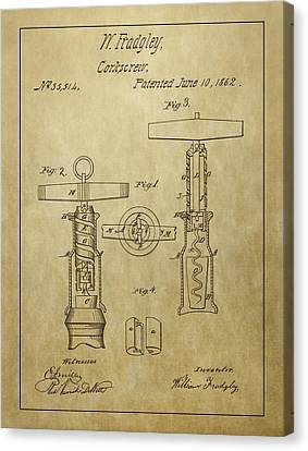 1862 Corkscrew Patent Canvas Print by Dan Sproul