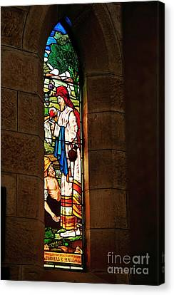 1865 - St. Jude's Church  - Stained Glass Window Canvas Print by Kaye Menner