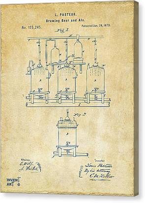 1873 Brewing Beer And Ale Patent Artwork - Vintage Canvas Print by Nikki Marie Smith