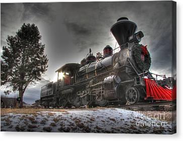 Canvas Print featuring the photograph 1880 Train by Bill Gabbert