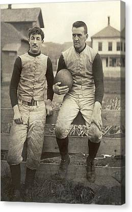 1885 Football Players Canvas Print by Underwood Archives