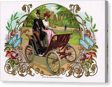 1890 Auto Vintage Art Canvas Print by Maciej Froncisz
