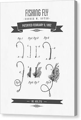 1892 Fishing Fly Patent Drawing Canvas Print by Aged Pixel