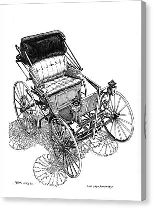 1893 Duryea Motorwagon Canvas Print by Jack Pumphrey