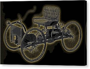 1896 Quadricycle Henry Fords First Car Canvas Print by Marvin Blaine
