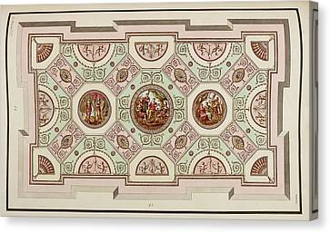 Antique Grotesque Ceilings Canvas Print by British Library