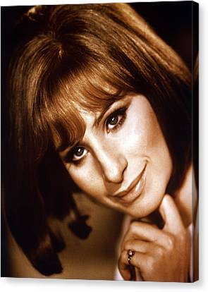 Barbra Streisand Canvas Print by Silver Screen