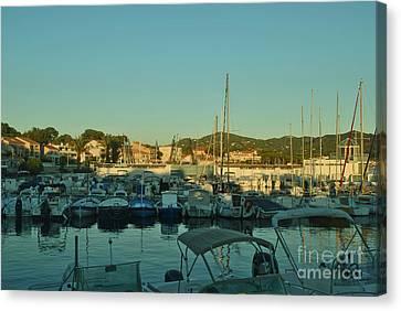 Beautiful Harbours At The French Riviera Canvas Print by Maja Sokolowska