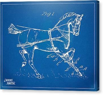 1900 Horse Hobble Patent Artwork Canvas Print by Nikki Smith