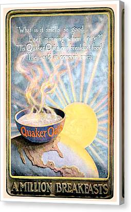 1906 - Quaker Oats Cereal Advertisement - Color Canvas Print by John Madison