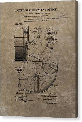 1909 Drum Patent Canvas Print by Dan Sproul