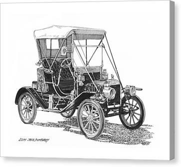 1911 Ford Model T Tin Lizzie Canvas Print by Jack Pumphrey