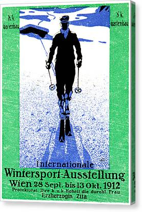 1912 Vienna Winter Sports Canvas Print by Historic Image