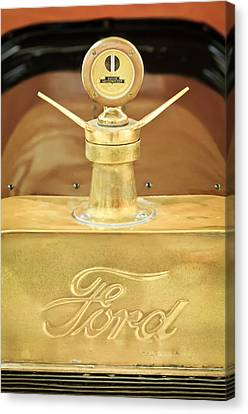1915 Ford Depot Hack Emblem - Moto Meter Hood Ornament Canvas Print by Jill Reger