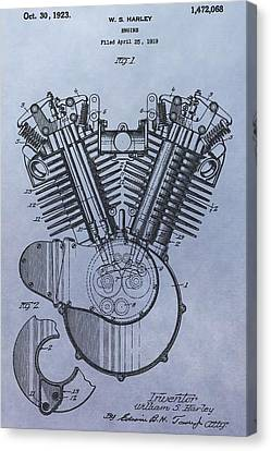1919 Harley Davidson Engine Patent Canvas Print by Dan Sproul