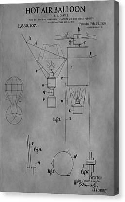 1920 Hot Air Balloon Canvas Print by Dan Sproul