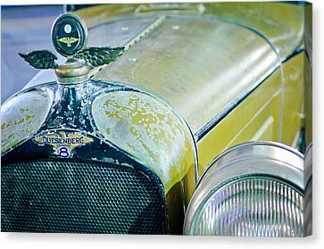1926 Duesenberg Hood Ornament - Motometer Canvas Print by Jill Reger