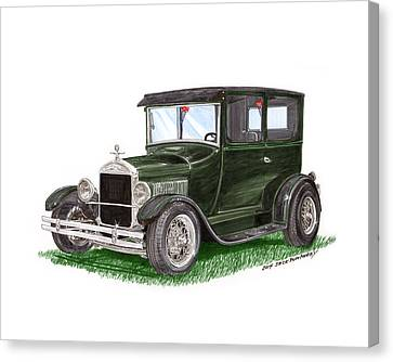 1926 Ford Tudor Sedan Street Rod Canvas Print by Jack Pumphrey