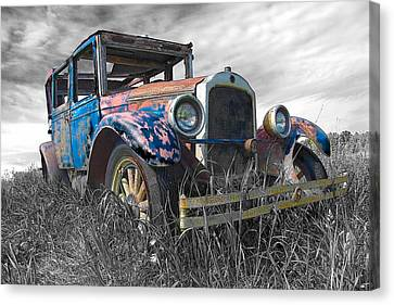 1927 Buick Canvas Print by John  Bartosik