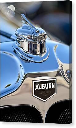 1929 Auburn 8-90 Speedster Hood Ornament Canvas Print by Jill Reger