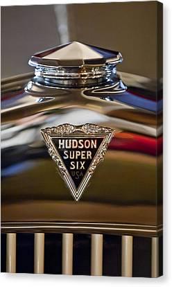 1929 Hudson Cabriolet Hood Ornament Canvas Print by Jill Reger