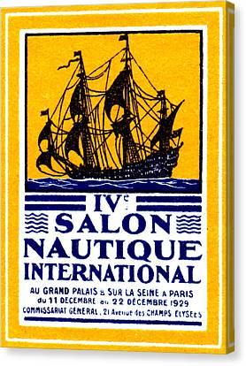 1929 Paris Boat Show Canvas Print by Historic Image