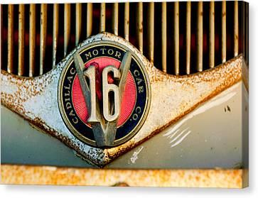 1930 Cadillac 452 V16 Ambulance Emblem Canvas Print by Jill Reger