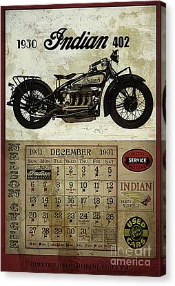 1930 Indian 402 Canvas Print by Cinema Photography