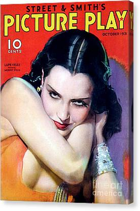 1930s Usa Picture Play Magazine Cover Canvas Print by The Advertising Archives