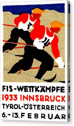 1933 Austrian Ski Race Poster Canvas Print by Historic Image