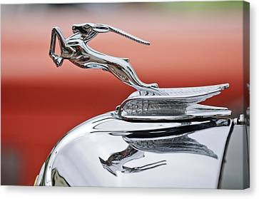 1933 Chrysler Cl Imperial Custom Dual Windshield Phaeton Hood Ornament Canvas Print by Jill Reger