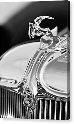 1933 Chrysler Imperial Hood Ornament 4 Canvas Print by Jill Reger