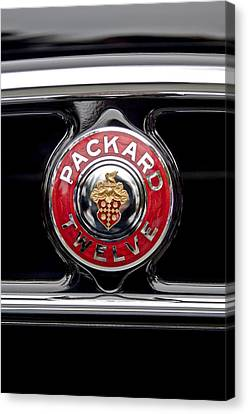1933 Packard 1005 Twelve Dietrich Convertible Victoria Emblem Canvas Print by Jill Reger