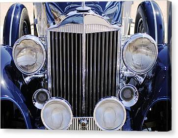 1933 Packard 12 Convertible Coupe Grille Canvas Print by Jill Reger