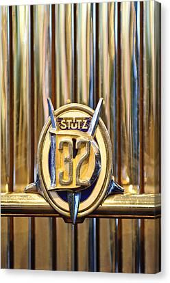 1933 Stutz Dv-32 Five Passenger Sedan Emblem Canvas Print by Jill Reger
