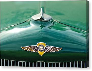 1934 Dodge Hood Ornament Emblem Canvas Print by Jill Reger