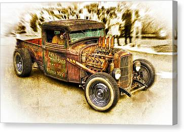 1934 Ford Rusty Rod Canvas Print by motography aka Phil Clark