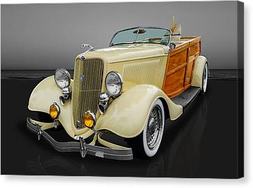1934 Ford Woody Canvas Print by Frank J Benz