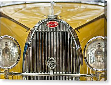 1935 Bugatti Type 57 Roadster Grille Canvas Print by Jill Reger